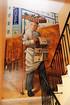 Wandmalerei für ein Treppenhaus im Hotel