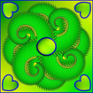Mandala in Grün