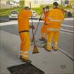 Drei Straßenkehrer