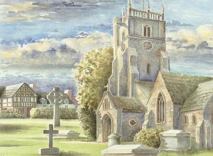 Kirche in Oswestry, England