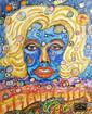 Frau im Blau